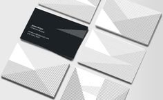 Design by Jonathan Howells for Moo  Simple black lines on a white background create a crossing pattern