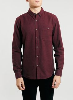 Burgundy Brushed Oxford Long Sleeve Shirt - Click to go straight to the website to find info & price :)