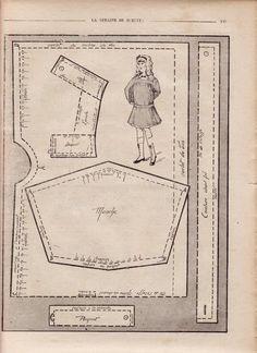 PAR AMOUR DES POUPEES :: 1915-09- Bleuette tablier d'écolière