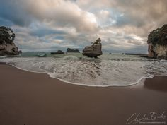 Cathedral Cove, New Zealand. Whilst everyone focuses on the cave, the entire beach is gorgeous. But get there early. In summer it will be packed with tourists by 8am. I took a walk at 4:30 in the morning to get there before the whole thing got covered in footprints... #cathedralcove #beach #newzealand #nz #dawn