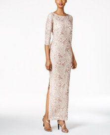 Calvin Klein Floral-Sequined Column Gown LOVE!!!