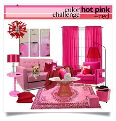 """""""color challenge: red & pink III"""" by linds-rae on Polyvore featuring interior, interiors, interior design, home, home decor, interior decorating, Sweet Jojo Designs, Rove Concepts, Convenience Concepts and Rodeo Home"""