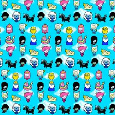 Fiona and Cake Meet Finn and Jake fabric by moremeknow on Spoonflower - custom fabric