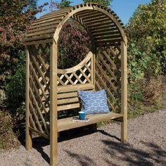Keswick Wooden Garden Arbour. The perfect garden seat.