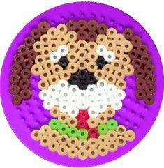Dog hama bead pattern from Floor Perler Bead Templates, Diy Perler Beads, Perler Bead Art, Melty Bead Patterns, Hama Beads Patterns, Beading Patterns, Peyote Patterns, Pearl Beads Pattern, Beading For Kids