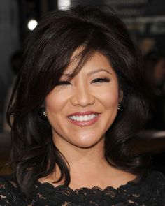 Julie Chen Medium Curls - Shoulder Length Hairstyles Lookbook - StyleBistro