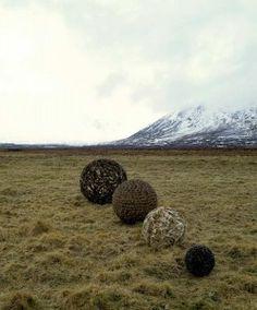 four spheres by Chris Drury, Scotland