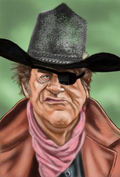 John Wayne as Rooster Cogburn by adavis57 on deviantART