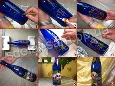 how to decorate a bottle -tutorial