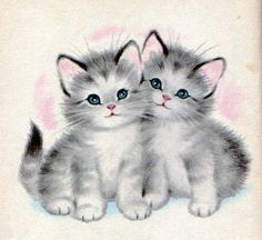 The Kitten Twins Ilustrations by Elizabeth Webbe 1960- Twins    \The Kitten Twins\ Rand McNally Elf Book 1960    By Helen Wing  Ilustrations by Elizabeth Webbe    Little twins