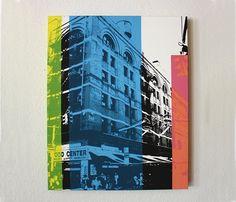 Black, white, color.  New York Print