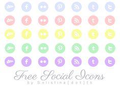 Selistina | Freebie: Pastel Social Icons