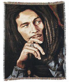 "50"" x 60"" Musical Artist Tapestry Throws- Bob Marley"