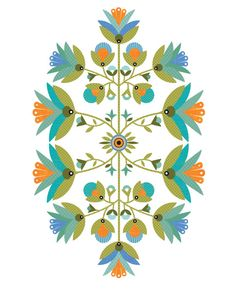 CbyC Studio Original  Folksy Floral 1  Limited by cbycdesignstudio, $15.00