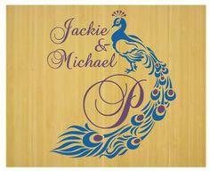 Personalized Peacock Wedding Monogram Dance Floor By Ten23designs 3600