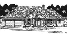Country House Plan with 1795 Square Feet and 3 Bedrooms from Dream Home Source | House Plan Code DHSW73911