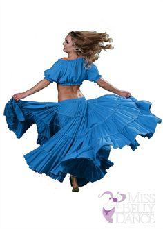 Belly Dance Tribal Cotton 25 Yard Skirt |  Fiery Frills