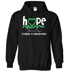 Fragile X syndrome - Hope for a cure - #sweaters for fall #sweater ideas. ACT QUICKLY => https://www.sunfrog.com/LifeStyle/Fragile-X-syndrome--Hope-for-a-cure-1965-Black-17590325-Hoodie.html?68278