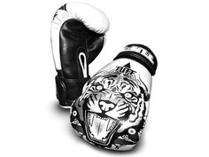 Tuff Muay Thai gloves tiger white