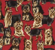 yorkies - Veterinary dog print scrub tops
