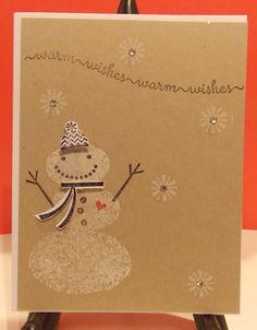 Handmade Snowman Holiday Card