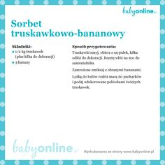 Przepis na truskawkowo-bananowy sorbet dla dziecka Vogue Kids, Kids And Parenting, Diabetes, Smoothies, Clean Eating, Easy Meals, Sorbet, Cooking, Inspiration