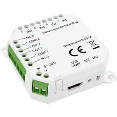 IO modulen er det optimale verktøyet for å holde alle enhetene dine tilkoblet. Med denne digitale IO Modulen fra Develco gjør du det mulig å koble kablede enheter til et nettverk. Iot Smart Home, Usb