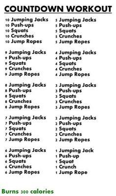 300 calorie workout....
