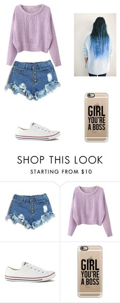 """""""Sin título #166"""" by karenrodriguez-iv on Polyvore featuring moda, Chicnova Fashion, Converse y Casetify"""