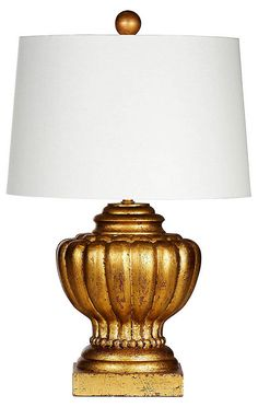Bastille Table Lamp, Gold | En Provence | One Kings Lane