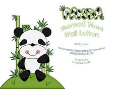Panda Word Wall Letters or Flash Cards  Do you have a panda theme in your classroom