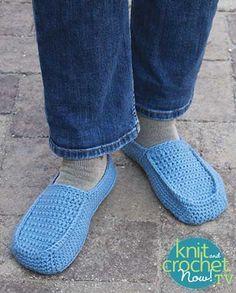 Free Fireside Crochet Slippers pattern featured in Season 7 of Knit and Crochet Now! TV.