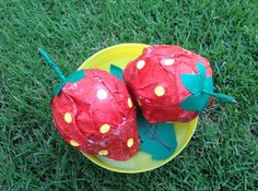 Egg Carton & Foam Ball Strawberry