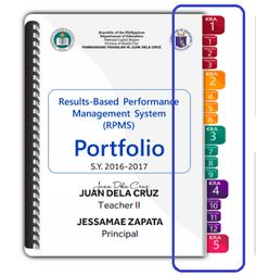 Ready to Print - Cut - Paste RPMS Tabs with Label to Showcase Portfolio Elements Portfolio Web, Teacher Portfolio, Portfolio Covers, Portfolio Design, Page Borders Design, Border Design, United Nations Day, Flower Background Design, Action Plan Template