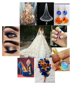 """Orange and Blue Wedding"" by sammieburkeee on Polyvore"