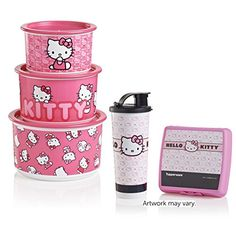 Tupperware Hello Kitty Collection - Get the Hello Kitty Canister Set featured in the Fall & Holiday catalog, plus a surprise Lunch Set featuring one of four exclusive Hello Kitty designs.
