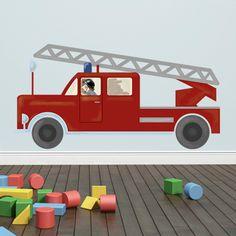 1000 images about jungen kinderzimmer on pinterest car bed autos and indoor climbing - Wandtattoo feuerwehr ...