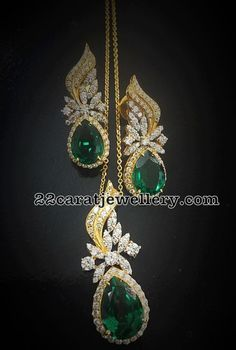 Look elegant by adorning emerald jewelry. Emerald Jewelry, Diamond Jewelry, Silver Jewelry, Diamond Earing, Silver Bracelets, Silver Rings, Pendant Set, Diamond Pendant, Bollywood Jewelry