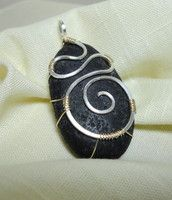 Black Lava Rock Pendant (Lima Beads Design Gallery)