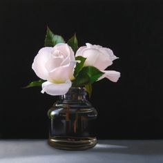 Rose Blush 10x10, painting by artist M Collier,This was the best painting on Daily Painters today. I just love how soft those roses look.