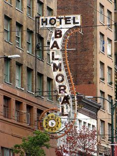 Social Activism in Vancouver's Downtown East Side: Rally May 30 @ in front of the Balmoral Hotel, 159 East Hastings Neon Moon, Cafe Sign, Vintage Neon Signs, Hotel Motel, Lokal, Roadside Attractions, Old Signs, Neon Lighting, Sign O' The Times