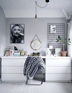 DREAM WORKSPACE IDEAS - FROM LUST LIVING - lustliving.co.uk  Para la habitación con cómodas nuevas y mas bajas