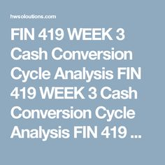 Fin  Week  Financial Outcomes Paper Fin  Week  Financial
