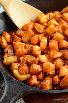 Slimming Eats - Slimming World Recipes Syn Free Breakfast Home Fries (Actifry or Oven) | Slimming Eats