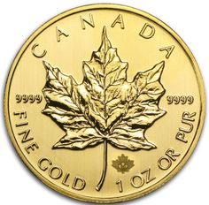 Gold coin maple leaf 2014 with a additional small security maple leaf below the big Maple Leaf... I love these 31,1 grams....