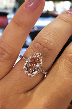 Cheap Engagement Rings That Will Be Friendly To Your Budget ❤ cheap engagement rings pear cut halo pave band ❤ More on the blog: http://ohsoperfectproposal.com/cheap-engagement-rings/