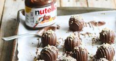 You Need To Make These Nutella Crunch Cake Balls Chocolate Cake From Scratch, Crunch Cake, Candy Bark, How To Roast Hazelnuts, Cake Mixture, Almond Bark, Hazelnut Spread, Box Cake Mix, Mini Muffins