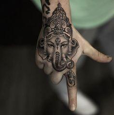 Ganesha piece by the incredible @niki23gtr #inked #Inkedmag #tattoo #realism #ganesha #handtattoo #insane