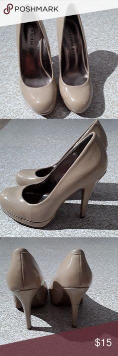 "Madden Girl tan high heels size 6 Madden Girl tan high heels size 6, heels height 4"" Madden Girl Shoes Heels"