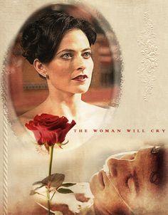 The single rose at the hospital for Sherlock in HLV was from Irene Adler.